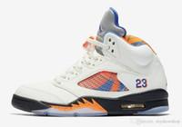 laranja internacional venda por atacado-Vôo 5 Internacional Mens Basketball Shoes Cor: Vela / laranja Peel-black-hyper Designer Real Esporte Tênis Estilo Código: 136027-148