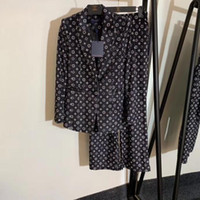 модные наряды оптовых-женщины из двух частей обмундирования Feminino кардигана делопроизводства блейзера Новых мод печати куртки Кнопка Бизнес женщины брюк леггинсы женской одежды