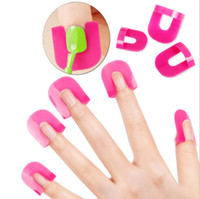 Wholesale nail shields wholesale online - Spill Resistant Manicure Finger Cover Popular Creative set Nail Polish Molds Shield Special Nail Art Tool