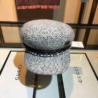 sombreros mexicanos al por mayor-Diseñador de las señoras de la boina de la boina Temperamento Moda tres colores Casual Gorro de lana caliente