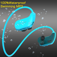 haut-parleur 4g achat en gros de-100% Étanche Lecteur Mp3 De Natation Écouteurs Surf IP68 Sport Écouteurs 4G 8GB RAM Casque Portable USB Lecteur de Musique Haut-Parleur Casque