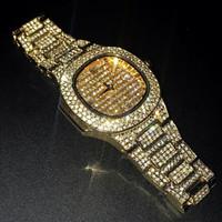 bracelets de calendriers achat en gros de-Calendrier du bracelet de montre à quartz hip hop 2019 pour hommes