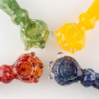 kabarcıklar boruları toptan satış-Yüksek Kaliteli Cam Kaşık Borular sigara için el boru sigara Boru Cam Kuru Otlar Için Su Borular Bubblers Sigara