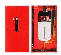 ingrosso casi per lumia-Coperchio Alloggiamento batteria per Nokia Lumia 920 Cornice posteriore Cover posteriore sportello (con connettore di ricarica pulsante di accensione laterale)