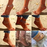 Wholesale boho beads resale online - Starfish Pendant Anklets For Women New Stone Beads Shell Anklet Bohemian Bracelets On Leg BOHO Ocean Jewelry