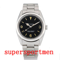 Wholesale vintage man luxury watches for sale - Group buy Luxury Wristwatch years Vintage mm Explorer Stainless Steel Mechanical Automatic Men Mens Watch Watches Wristwatches