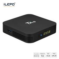 ingrosso scatole di andriod tv-TX8 Andriod TV Box 4GB 32 / 64GB RK3318 Android 9.0 TV Box 2.4G / 5G WiFi Bluetooth 4.0 scatola astuta della TV