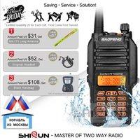 talkie walkie baofeng uv 8w toptan satış-Ucuz Walkie Talkie -9R IP67 su geçirmez Çift Bant 136-174 / 400-520MHz Ham Radyo 10km Baofeng 8W Walkie Talkie 10 KM -82 -5R'yi UV XR UV