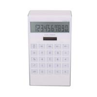 ingrosso calendari di plastica-T F Nuova plastica Mini White Desk Promozione elettronica Logo personalizzato Calcolatrice solare Energia Batteria dual power calcolatrice con calendario