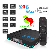 Wholesale smart tv vs android box for sale - Group buy New S96 MAX Plus Android TV Box GB GB GB G G WiFi Bluetooth VS H96 MAX Smart TV box