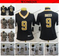 d99721aa8c0 Womens New Orleans Ladies Saints 9 Drew Brees 41 Alvin Kamara Football Jerseys  Cheap Stitched Shirts S-XXL