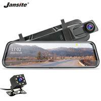 ingrosso registrazione a specchio retrovisore della fotocamera-Jansite 10 pollici Dash cam FHD 1080P Stream Rear View Mirror telecamere per auto DVR Cycle Recording Visione notturna Dual Lens G-sensor