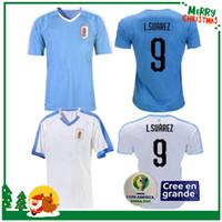 camisas de futebol uruguai venda por atacado-2019 Copa América Uruguai Futebol Jersey 19/20 Casa 9 L.suarez 21 E.cavani Camisa De Futebol # 3 D.GODIN Fora Equipamentos Nacionais de Futebol