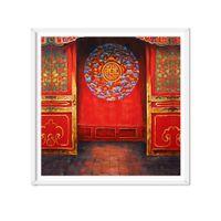 красная масляная краска оптовых-5 шт. / Лот Vintage Red Door Art Картина Маслом Печать Холст Картины Wall Art Картина Home Decor Для Гостиной