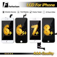 iphone сенсорный дигитайзер сенсорный полный оптовых-Для 7 Plus LCD Замена Класса A +++ Дисплей Сенсорный Дигитайзер Полная Замена Экрана В Сборе Для iPhone 6 7G iPhone 6 Plus 7 Plus