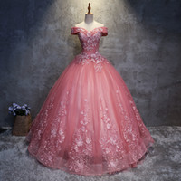 organza estampado floral al por mayor-Vestidos de quinceañera 2020 apliques elegantes hermosos vestidos de fiesta de baile vestidos de fiesta con estampado floral formal Vestidos de 15 años QC1468