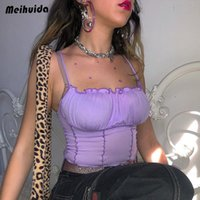soutien-gorge violet achat en gros de-Crop Solid Purple Fashion Top sans manches Bustier Solid Bra Vest Camisole Crop Top Femmes Femmes Bralette Singlet Débardeur S M L