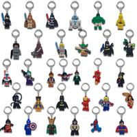 schlüsselhalter ornamente großhandel-MOQ = 500PCS Superheld-Metallschlüsselanhänger-netter Karikatur-weicher Schlüsselring PVC-Anime-Abbildung Keychain Autoschlüssel-Halter-Zusatz-Verzierungen - freies DHL