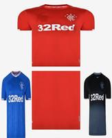 tayland kaliteli futbol forma toptan satış-Tay kalite 2019 2020 Glasgow Rangers FC Ev Sahibi Deplasman TAVERNIER Futbol Formaları 19 20 Rangers MURPHY FC Deplasman siyah Futbol Gömlek