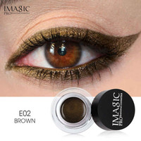 Wholesale gel eyeliner for sale - DHL free IMAGIC Gel Eyeliner Not Blooming Makeup Palette Matte Waterproof Lasting Eye Liner Gel Cream With Brush