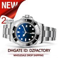 красный синий ремешок для часов оптовых-Новый 116660 44MM набор керамический ободок Black Watch регулируемый ремешок Автоматическое движение спортивные часы Sea Dweller Красный Зеленый Синий Часы Купонный