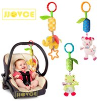 JJOVCE Windbell Baby Stroller Hanging Bed Pendant Animal Plush Toys Round Bed Rattle Comfort Toy Newborn Baby