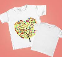 m branco venda por atacado-T-shirt pintados à mão das crianças branco do jardim de infância do pai-filho manual diy pintado pintura grafite em branco puro algodão camisa cultural