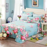 Wholesale purple romantic bedding for sale - Group buy Fashion romantic red prints pattern home textiles bedding cotton bed sheet set pillowcase super soft x230cm size