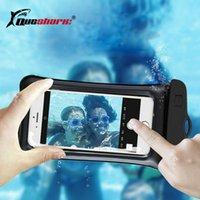 bolsa à prova d'água subaquática venda por atacado-Airbag Flutuante Natação Sacos À Prova D 'Água Do Telefone Touchscreen Saco Underwater Pouch Phone Case Para iphone 8 8 s Universal 6.3 polegadas # 562948