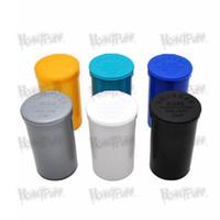 limoflaschen großhandel-19 Dram Empty Squeeze Pop Top Flasche Dry Herb Box Pillendose Fall Herb Containers Luftdichter Aufbewahrungskoffer Raucherzubehör Stash Jar