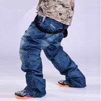 Outdoor Men Ski Pants Winter Profession Snowboard Pants Waterproof Windproof Snow Trousers Breathable Warm Ski Clothes