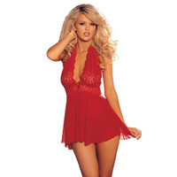 32151cb373 S M L XL 2XL 3XL 4XL 5XL 6XL Plus Size Lingerie Black Red Women Sexy  Lingerie Hot Lace Deep V Neck Babydoll