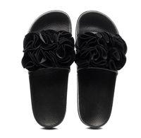 saia rosa pvc venda por atacado-Mulheres cor padrão de flor saia moda 2019 novos sapatos de praia ao ar livre casa de viagem plana com chinelos de pintura / sandálias