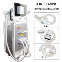 ipl pele laser rf venda por atacado-2019 multifuncional IPL yag laser de remoção de tatuagem máquina nd e-luz pele rf remoção do cabelo rejuvenescimento opt
