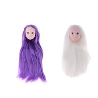 accesorios para hacer muñecas al por mayor-Venta al por mayor 1/4 Mujer Bjd Doll Head Sculpt No maquillaje de muñeca articulada DIY Partes del cuerpo Accesorio