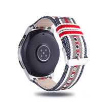ingrosso pebble-Moda cinturino in nylon per Samsung Gear Sport S2 S3 Galaxy Orologio 42mm 46mm 20mm 22mm Cinturino in pelle per Huami Amazfit Bip Pebble Time