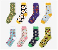 Wholesale adult pattern socks resale online - Women Jacquard Weave Knitted Funny Sock Adult Accessories Female Printed Novelty Pattern Printed Socks Women Socks