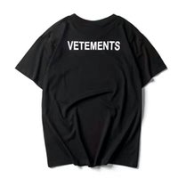 top camisa de algodón para hombre al por mayor-2017 NUEVO TOP SS16 Verano vetements Carta de impresión hombres Negro Blanco camiseta de manga corta PERSONAL de hiphop Moda Casual algodón camiseta S-XL