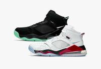 chaussures de basket luisent vert achat en gros de-Nouveaux hommes Nike Air Max 270 X Jordan Mars 27C Chaussures de basket-ball pour les hommes Blanc Sports CD7070-100 Baskets Noir Vert Glow Dans The Dark chaussures formateurs 7-12