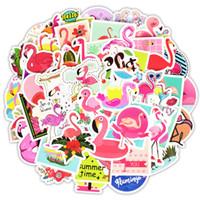 çocuklar için serin çıkartmalar toptan satış-50 adet / paket Klasik Moda Stil Flamingo Çıkartmalar Moto araba bavul serin laptop çıkartmaları Için Kaykay Sticker Çocuk DIY Oyuncak