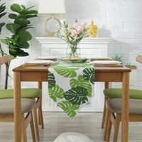 Wholesale table placemat for wedding resale online - Modern Table Runner chemin de table Runners for Wedding Party Palm Leaf camino de mesa tafelloper Monstera Leaf Placemat