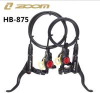yakınlaştırma bisikleti toptan satış-ZOOM HB 875 Hidrolik Fren Kolu Ön 800 / Arka 1400mm Dağ MTB Bisiklet Disk Fren kelepçe için Fren balataları sıcak satış