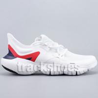 ingrosso il trasporto libero dei pattini correnti del mens-Spedizione gratuita RN 5 Mens Nero di alta qualità Volt bianco GS Blue Designer Run Sneakers da ginnastica Scarpe da ginnastica