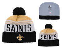 a1155d04ef5a88 Men's New Orleans Saints New Black 2018 Sideline Cold Weather Official  Sport Knit Black Team Logo Cuffed Hat 01