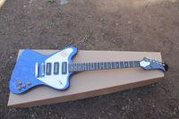 Wholesale thunderbird guitars for sale - Group buy Custom VOS Firebird Thunderbird Transparent Metal Blue Color Electric Guitar Mini Humbucker Pickup Chrome Hardware Trapezoidal Mop Fingerboa