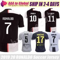 uniforme al por mayor-Camisetas de fútbol de Cristiano Ronaldo 2020 Camisetas de fútbol de Mandzukic Chiellini Marchisio Pjanic Ronaldo Dybala uniforme de Maillot de pie