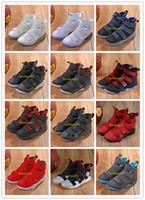 zapatillas de baloncesto hombres lebron 11 al por mayor-Zapatillas de baloncesto LeBron Soldier XI 11 para hombre James Soldier XI 11 azul marino 2019 nuevas, negras / rojas / blancas, una variedad de zapatillas deportivas de color 7-12 c01