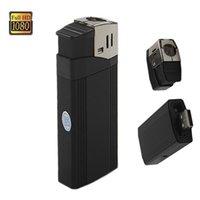 фонарики цифровые оптовых-Full HD 1080P USB зажигалка мини камера V18 Real Windproof Lighter мини видеокамера с фонариком цифровой видеомагнитофон черный