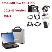 diagnóstico estrela mercedes venda por atacado-CF52 + MB Star C5 SD Connect + HDD 2019.03 Sistema de diagnóstico Compact 5 Mercede Multiplexer de diagnóstico para MB diagnosticar