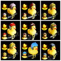 Wholesale hard head helmets for sale - Group buy Broken Wind Duck Bicycle Light Duckling Bell Hard Hat Horn Light Motorcycle Yellow Duck Helmet Light LJJZ382